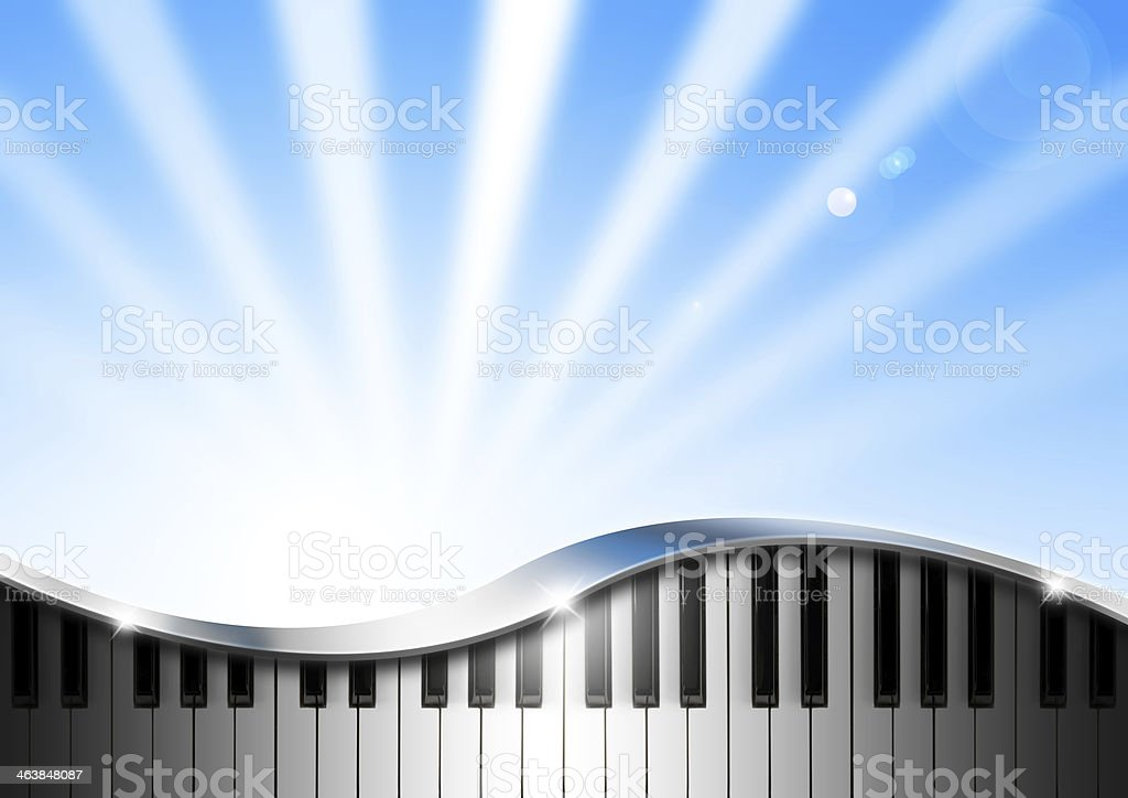 Music Background With Piano stock photo