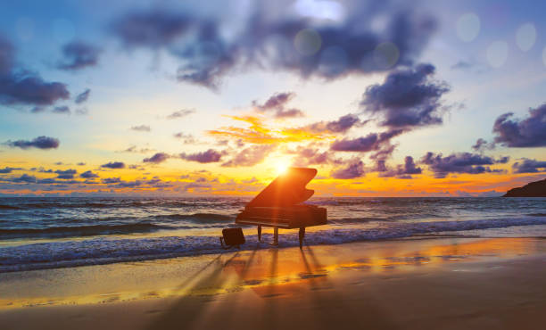 Music background.Melody and song concept in nature stock photo