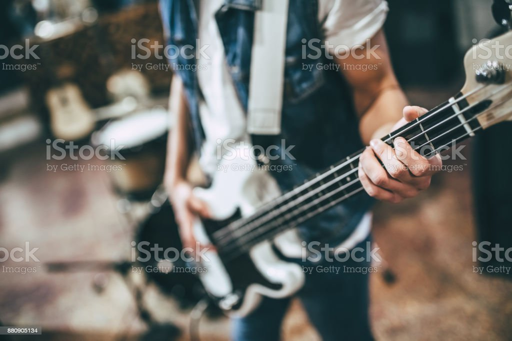 Music band repetition stock photo