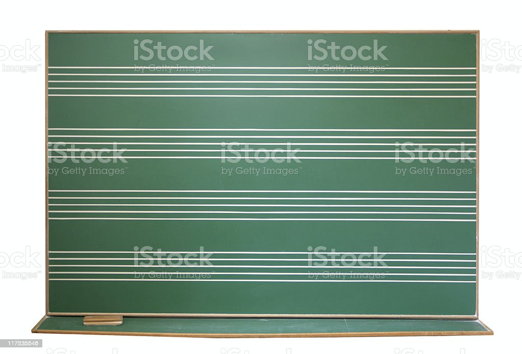 Music blackboard classroom royalty-free stock photo