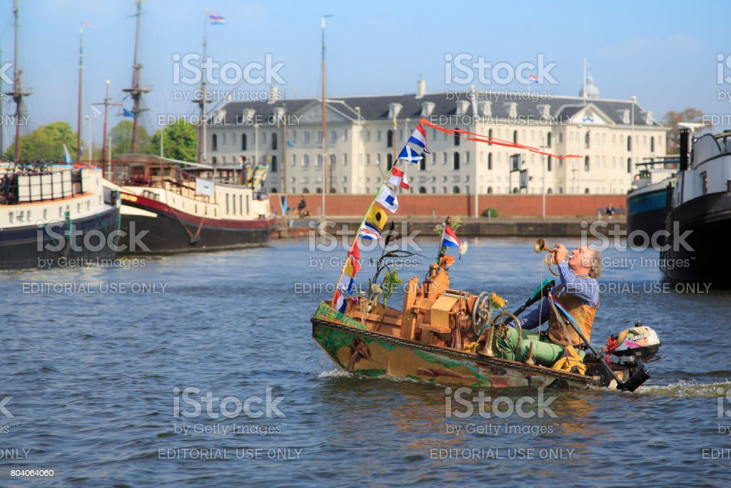 Music boat stock photo