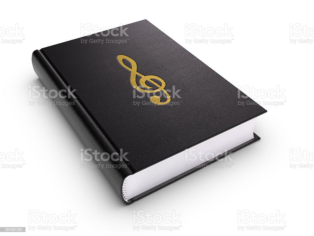 Music book (isolated) stock photo