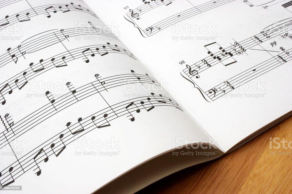 Music Book stock photo