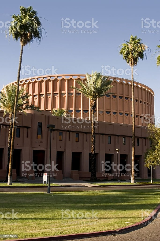Music Building - Arizone State University stock photo