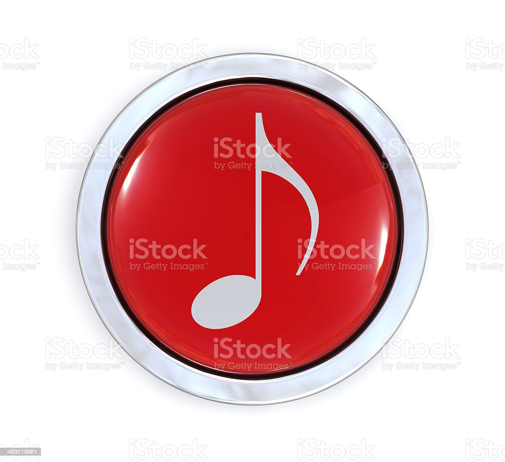 Music Button royalty-free stock photo