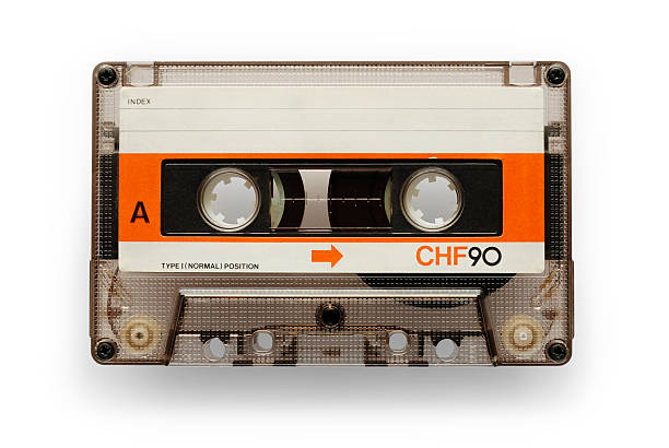 Music can Old good audio casette isolated on white with soft shadow + clipping path tape stock pictures, royalty-free photos & images