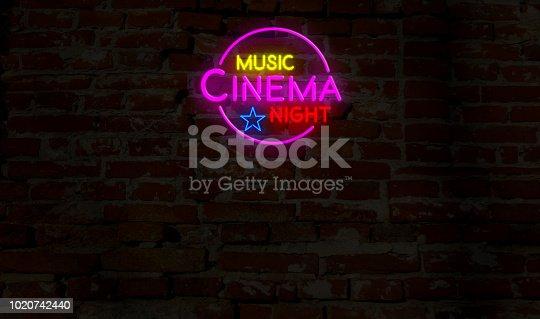 991292404 istock photo Music cinema night neon 1020742440