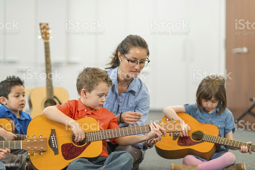 Music class stock photo