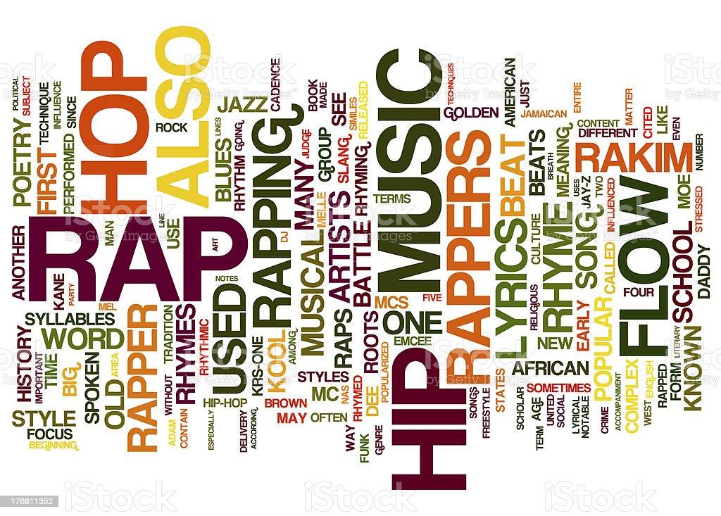 RAP Music collage concepts stock photo