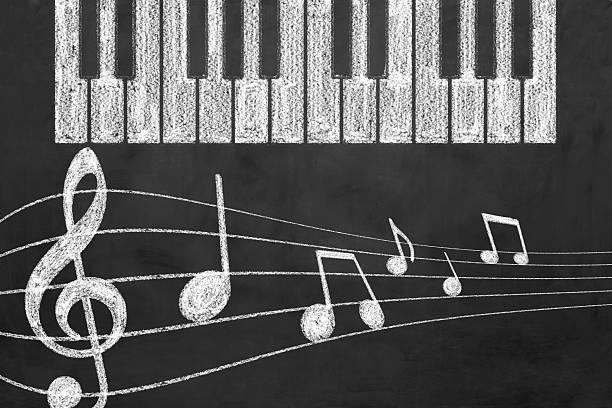 conceito de música - desenhos de notas musicais - fotografias e filmes do acervo