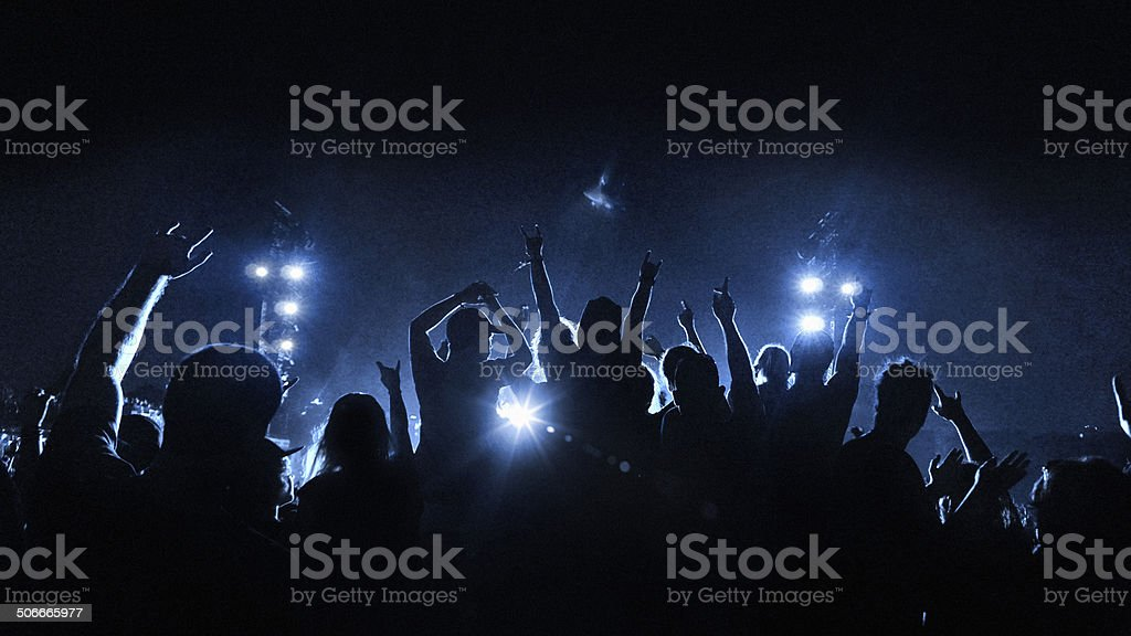 Music concert and crowd stock photo
