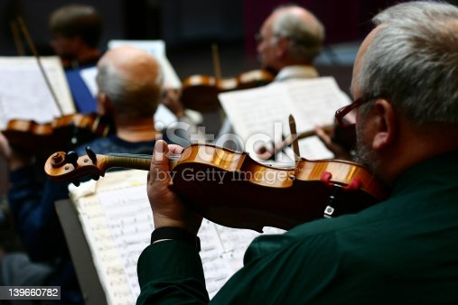 close up picture of musical instruments during a classical concert music