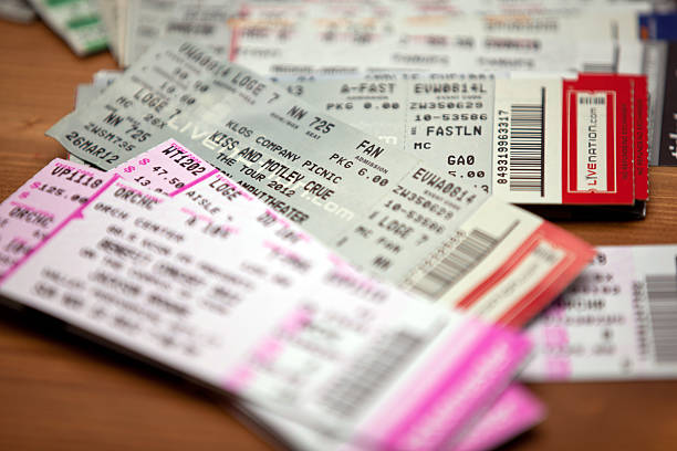 music concert show event tickets - ticket stock photos and pictures