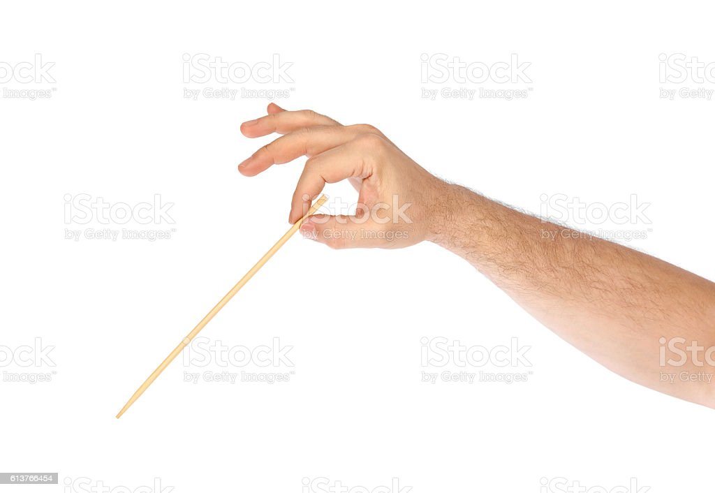 Music conductor hand stock photo