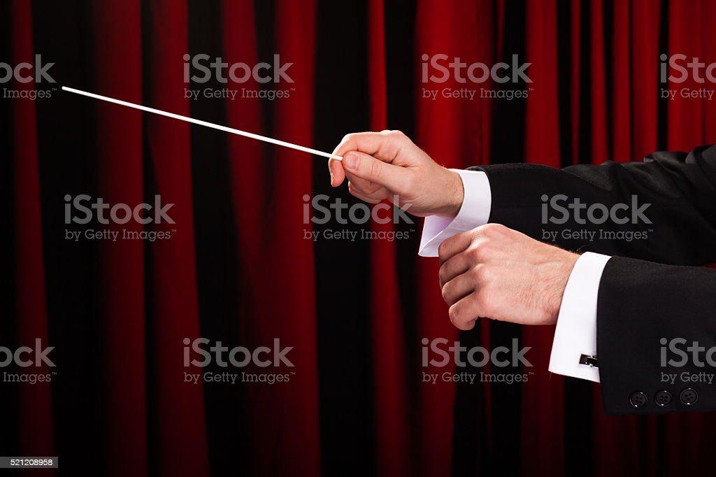 Music Conductor stock photo