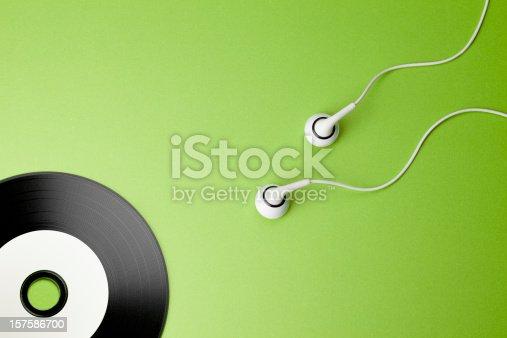 istock Music. Creativity Concepts Ideas Sex Headphones CD Sperm Record 157586700
