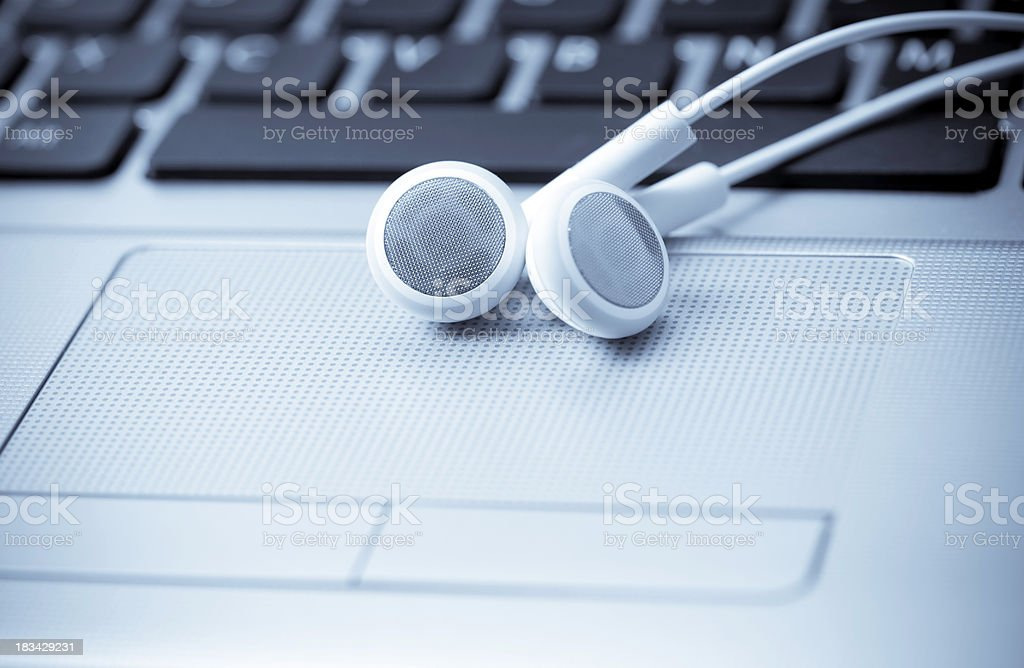 Music Downloads And Audio Podcasting royalty-free stock photo