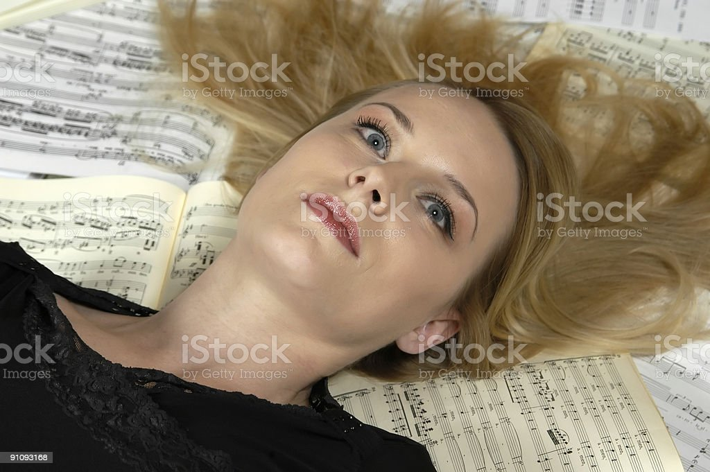 Music dreams - beauty lies in the musical sheets royalty-free stock photo