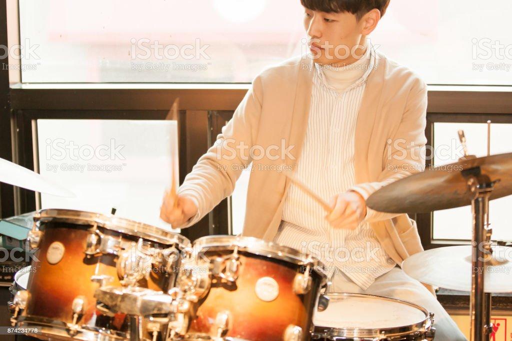 Music - Drummer stock photo