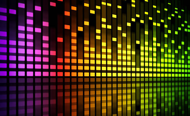 music equaliser blurred graph stock photo