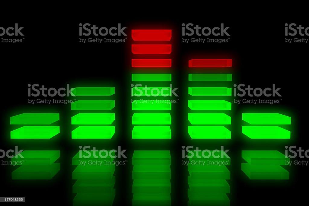Music equalizer backdrop stock photo