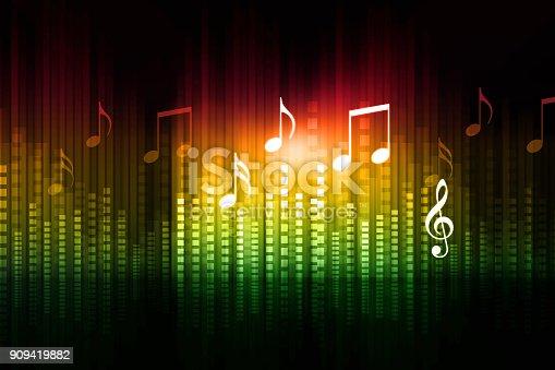 istock Music equalizer background 909419882
