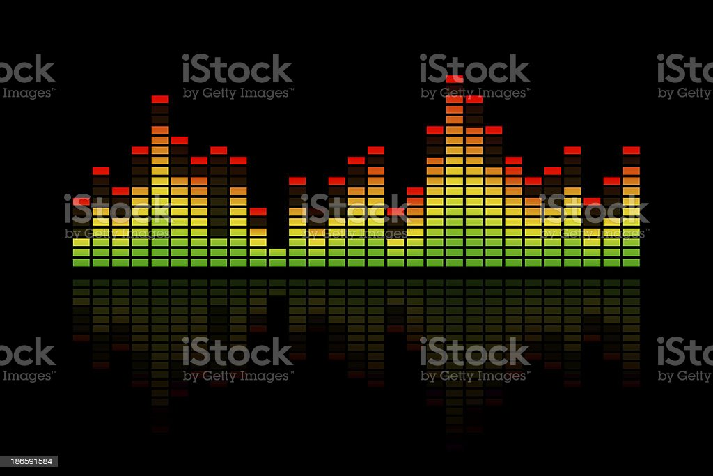 Music Equalizer Bars stock photo