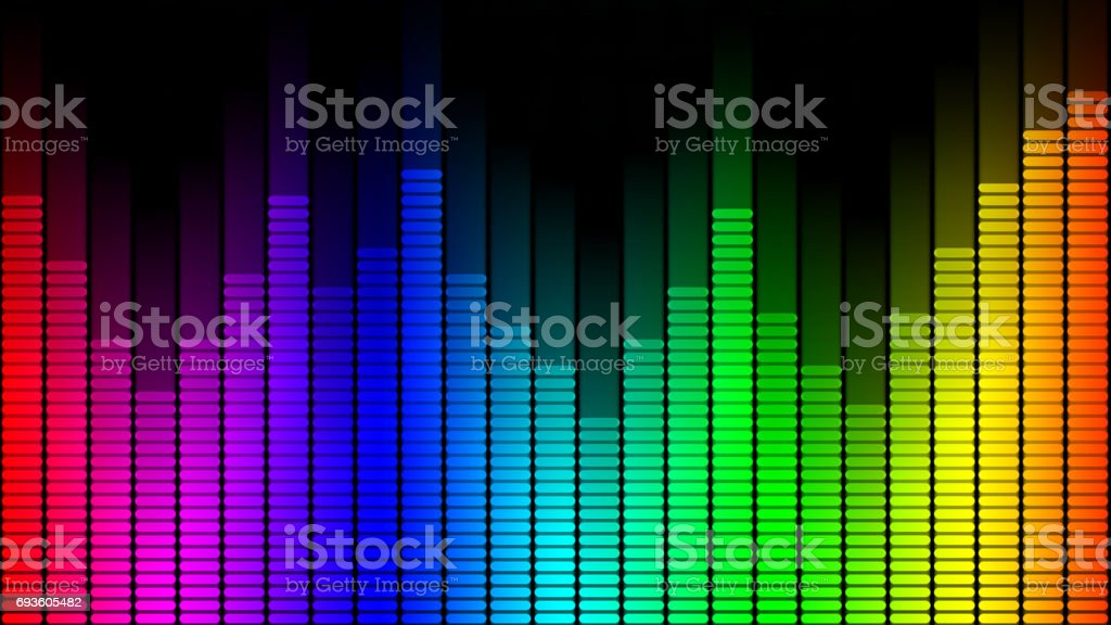 Music equalizer symbol stock photo