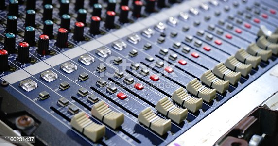 istock Music equipment for sound mixer control 1160231437