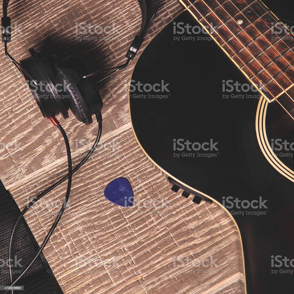Music equipment stock photo