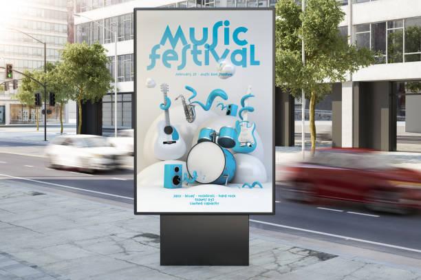 Musik-Event-Plakat Plakat an der Stadtstraße – Foto