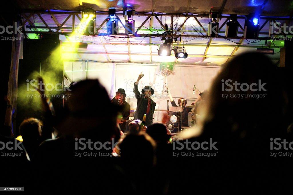 Music festival at night stock photo