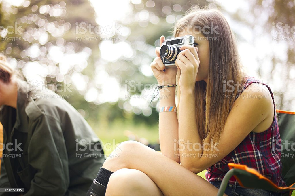 music festival campers royalty-free stock photo