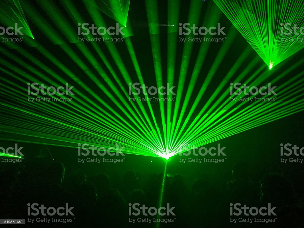 Music festival, concert, nightclub laser light background stock photo