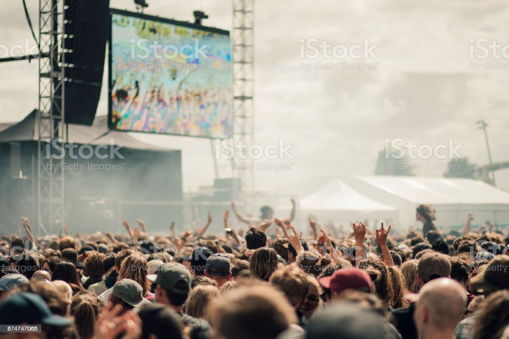 Music Festival Crowd stock photo