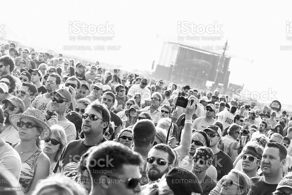 Music Festival Fans royalty-free stock photo