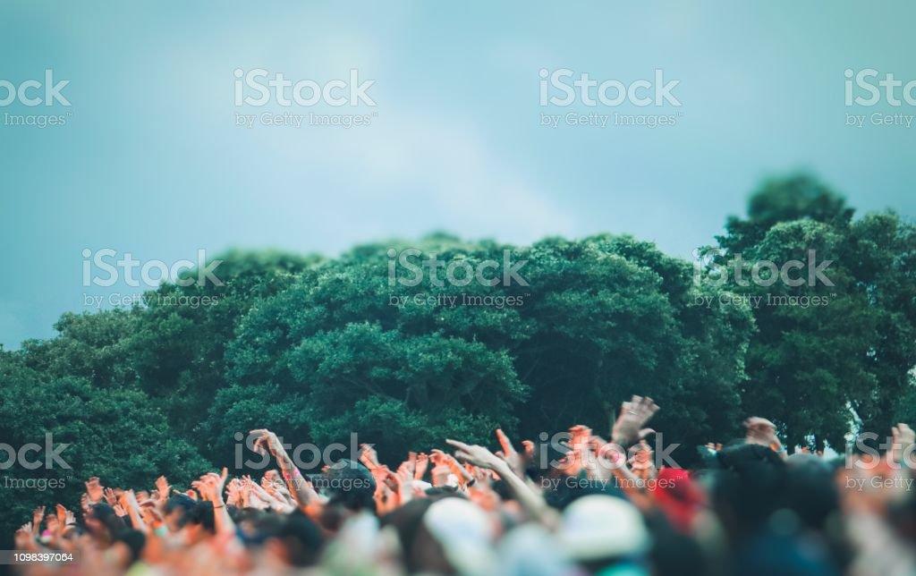 Muziekfestival - Royalty-free Alleen mannen Stockfoto