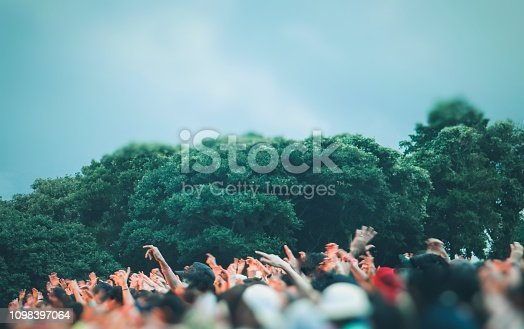 Many people enjoy the Music festival