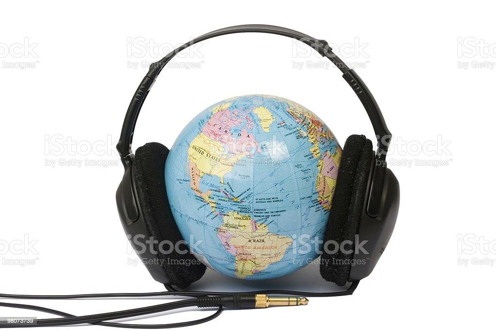 Musica per il mondo foto stock royalty-free