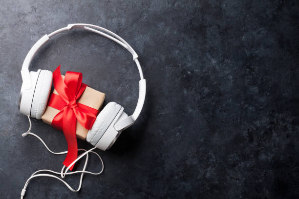 Music gift concept stock photo