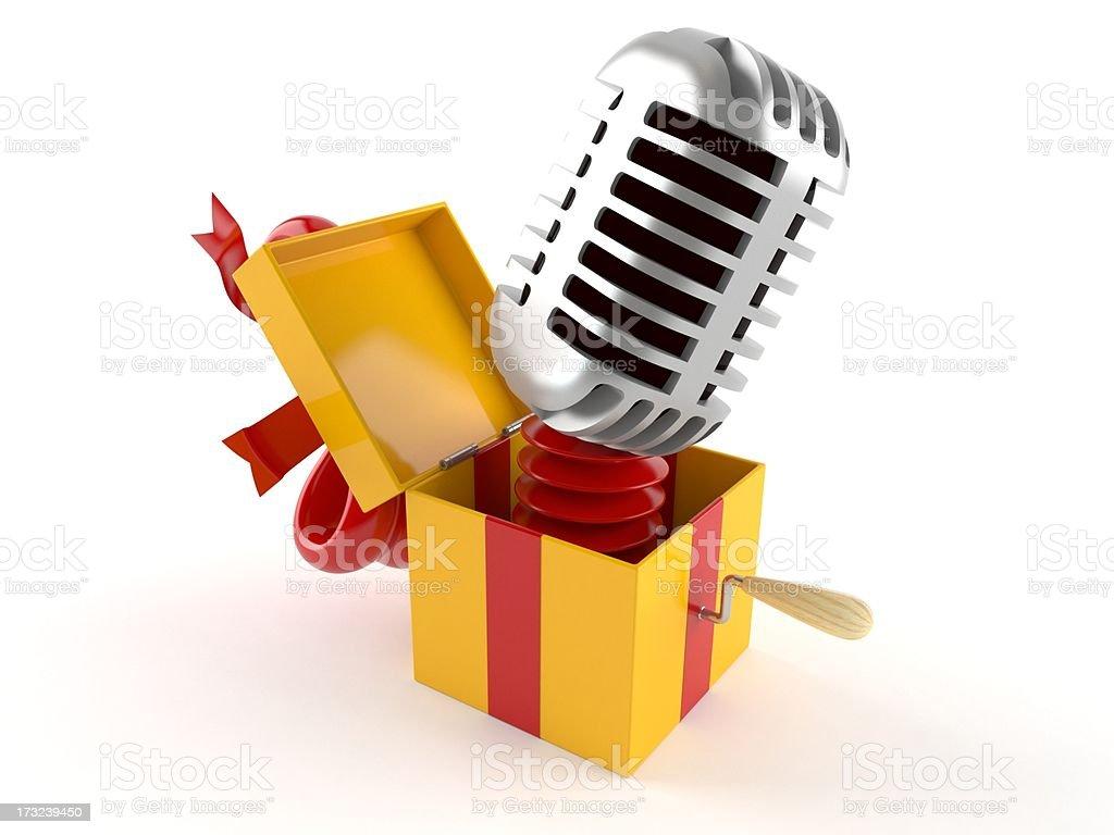 Music gift stock photo