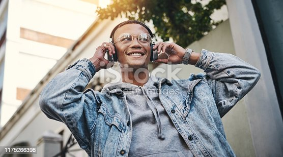 1165318420istockphoto Music got me in a good mood 1175266398