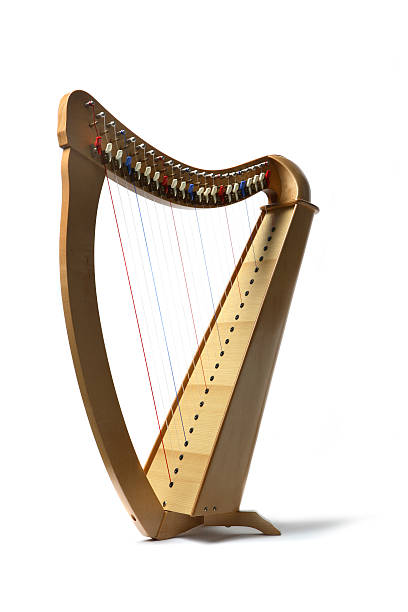 music: harp - harpist stock photos and pictures