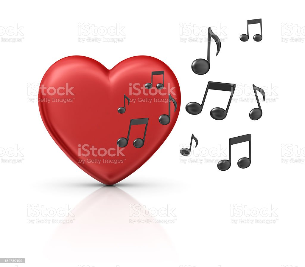 music heart royalty-free stock photo