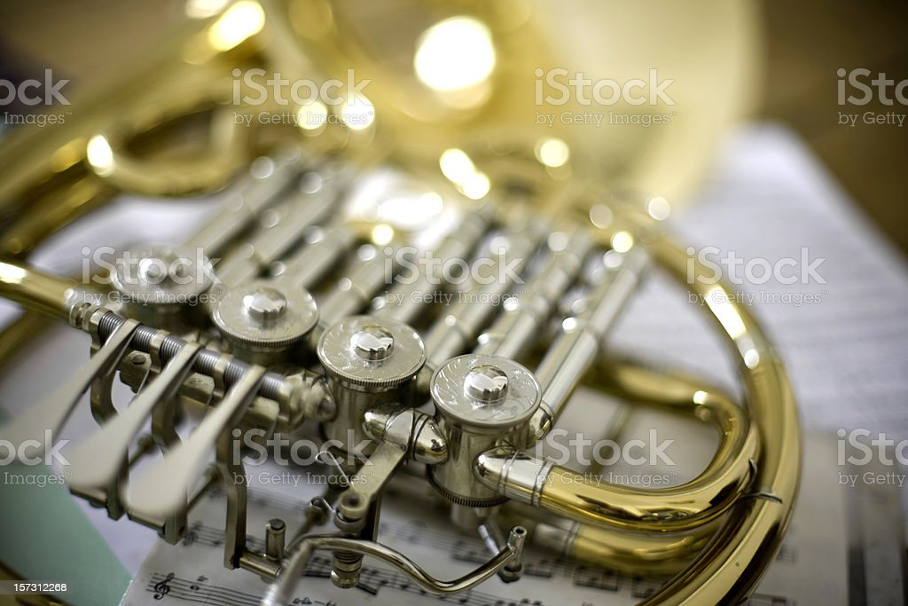 Music horns royalty-free stock photo