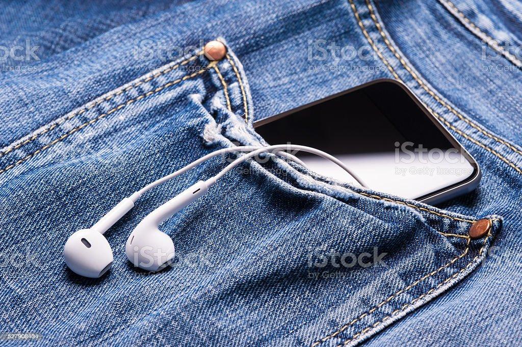 Music in pocket stock photo