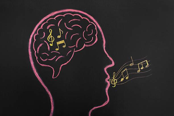 musik in deinen kopf - motivationsmusik stock-fotos und bilder