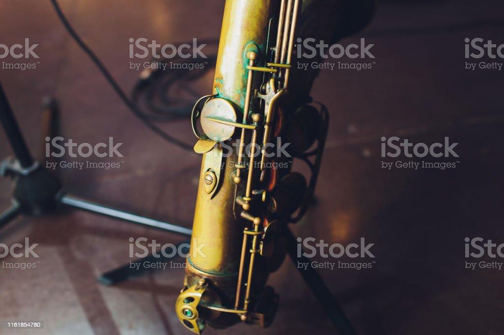 Music Instrument Alto Saxophone on black, Saxophone, brass Saxophone,...