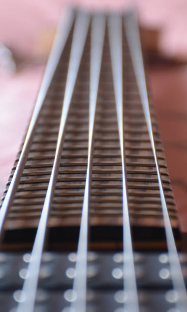 Music Instruments 5 Strings Bass Guitar stock photo