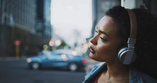 La música es un mundo propio - foto de stock